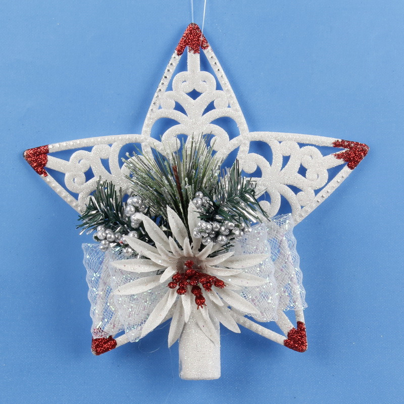 Holiday Living 12-in Star White Matte Christmas Tree Topper in the ... | 800x800