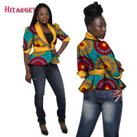 2019 Traditional African Clothing Women Blazers and Jackets Women Dashiki Tops Plus Size Blazers For Women Slim Jacket WY1269