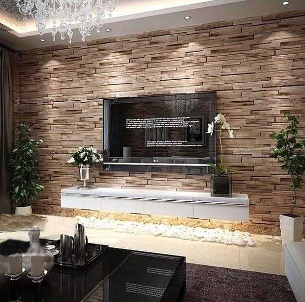 Rustic Modern 3d Room Faux Brick Wall Wallpaper Bedroom