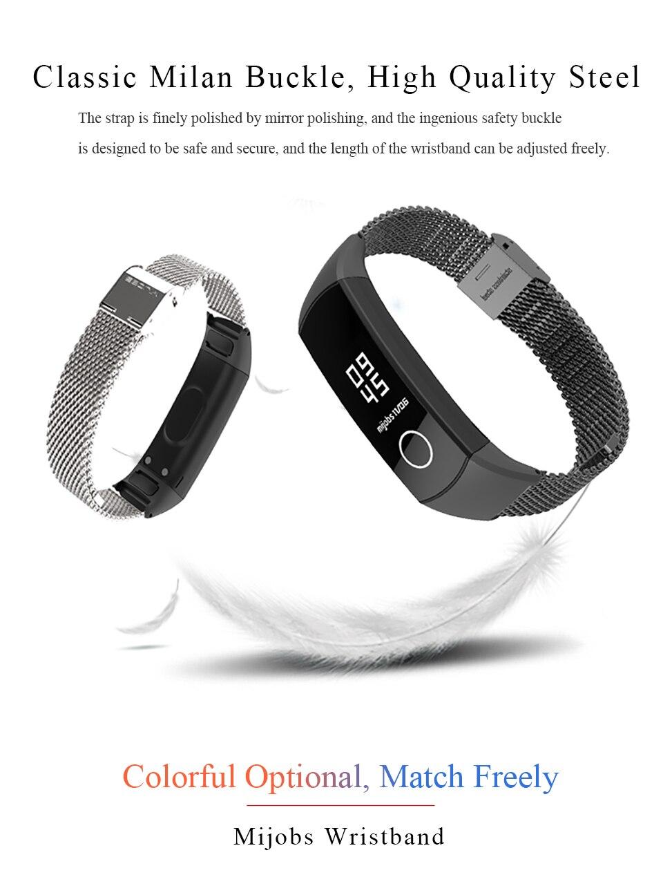Mijobs milanese metal pulseira de pulso para