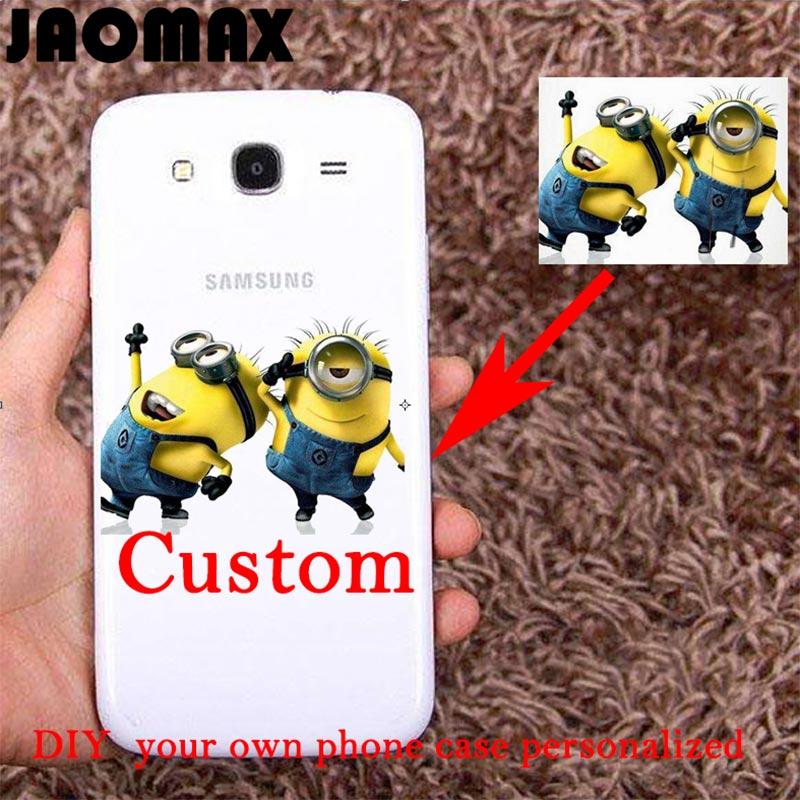 Jaomax DIY Design Custom Case For Samsung Galaxy S3 S4 S5 S6 S7 EDGE S8 S8Plus Transparent Soft TPU Silicone Phone Cover Coque