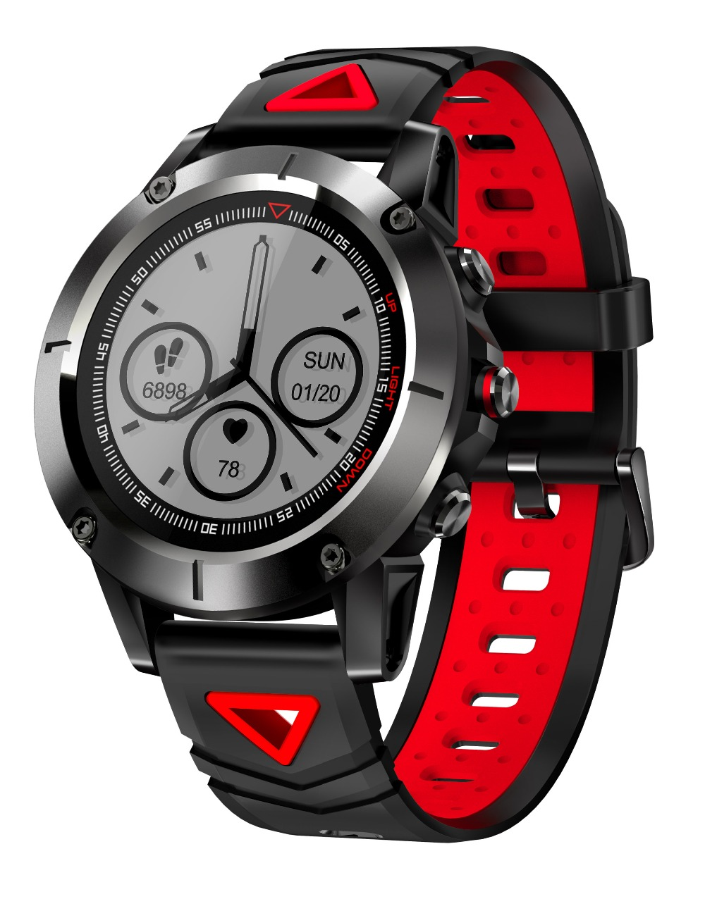 Moonlinks G01 gps Смарт-часы Для мужчин IP68 Водонепроницаемый крови Давление беспроводной наручные часы Спорт компас Smartwatch для IOS и Android