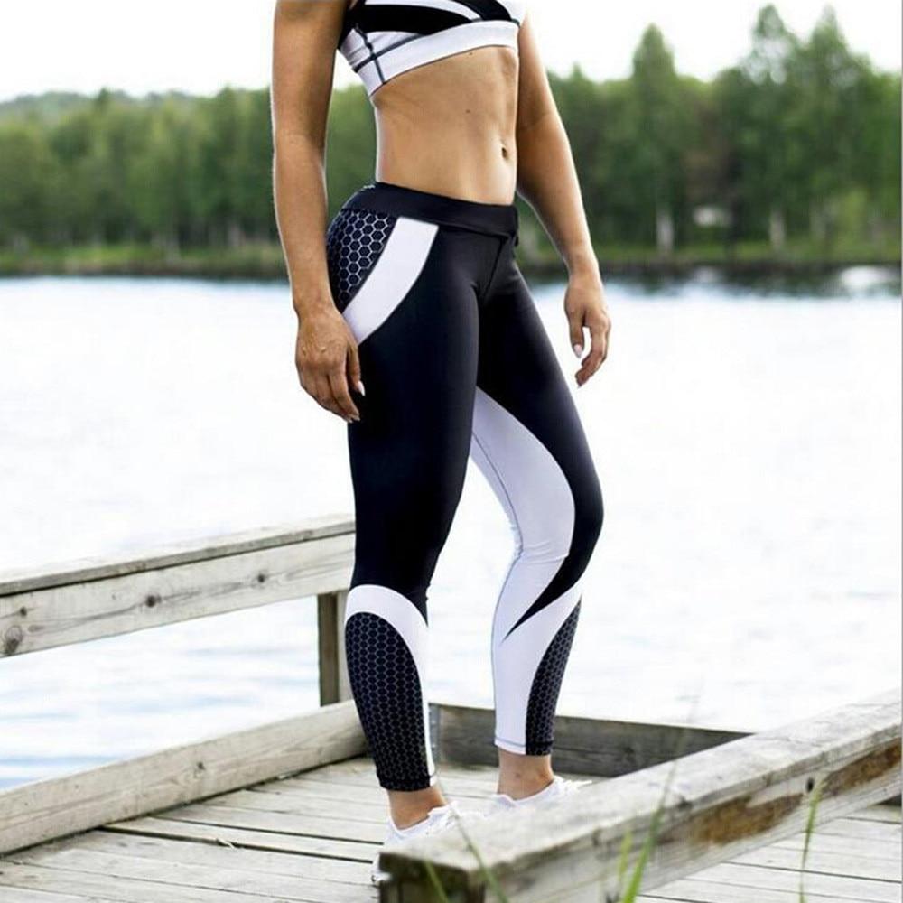 Spandex - Womens 3D Print Gym Leggings