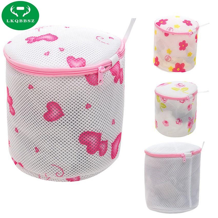 Women Lingerie Underwear Bra Sock Laundry Basket mesh bag Washing Aid Net Mesh Zip Bag Bra Stroage Case