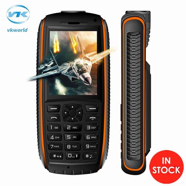 Original vkworld piedra v3 max 2.4 pulgadas dual sim bluetooth ranura impermeable 21 teclas 5300 mah teléfono celular de fm