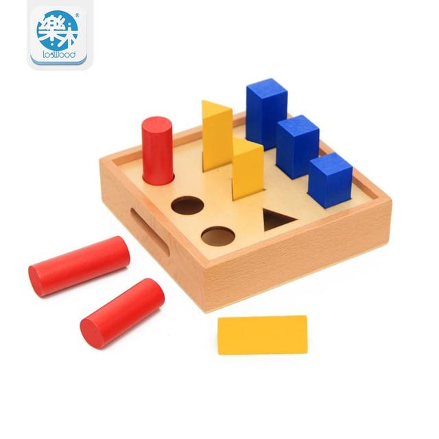 Wood Educational Toys Geometrical Pillar Learning Shape ...