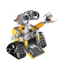 2018 New 687pcs Idea Robot WALL E Lepin Model Building Blocks Kit Toys For Children Education Gift Compatible Bricks Toy