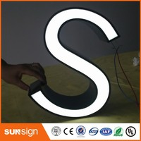 machine made stainless steel frontlit LED sign letters
