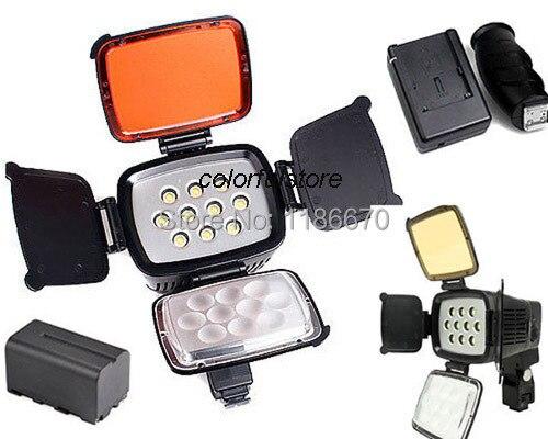Pro 5012 10 Pcs LED Video Light  Lighting Lamp For Canon Nikon JVC Pentax Olympus Samsung Camera Camcorder +NP-F750 F770+Charger пена монтажная mastertex all season 750 pro всесезонная