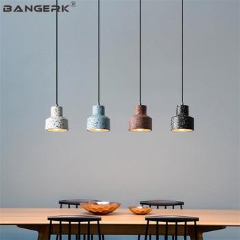 Lámpara colgante de estilo Loft Industrial Estilo Vintage americano, lámpara colgante de cemento para restaurante, decoración del hogar, iluminación, lámparas colgantes
