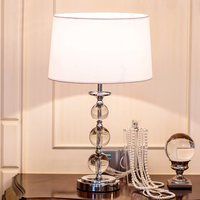 Modern LED Table Lamp Bedside Lamps for Bedroom Living Room Home Decoration Night Light Indoor Crystal Stainless Steel