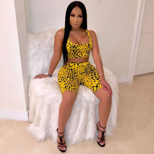 7b2e8c2eed2e Printed Sexy Two Piece Sets Crop Top and Skirt Woman Fashion 2019 Summer  Cute Matching Sets