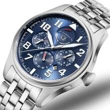 Carnival relojes de lujo para hombre, reloj mecánico automático MIYOTA, 150M, impermeable, multifunción, C8675 5