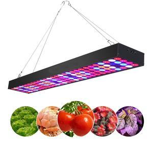Image 1 - Светодиодная промышленная лампа полного спектра Venesun 100 Вт, панельные лампы для выращивания растений, алюминиевые лампы для внутренних теплиц, фотолампы/овощи/цветение