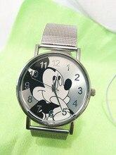 Лучшие продажи Микки мультфильм свободного покроя кварцевые женские часы zegarki meskie нержавеющей стали мода дамы платье часы сайт hodinky