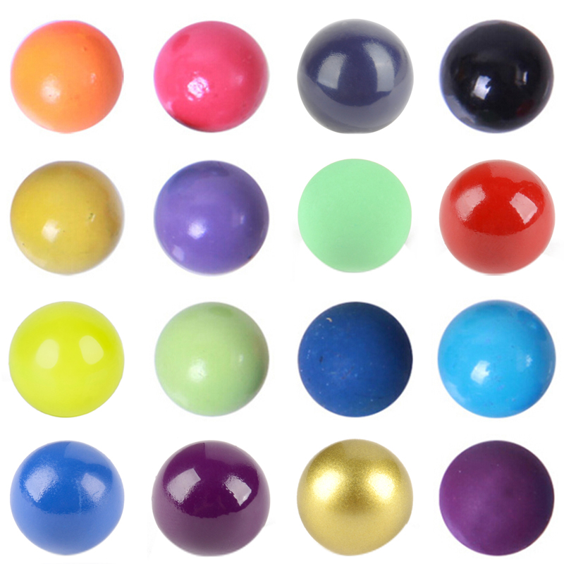 16mm Vintage Pregnancy Colourful Balls Necklace DIY Making Shellhard Mexico Balls Lockets Pendant Necklace For Women Jewelry