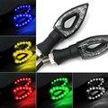 Asamblea de La Lámpara Modificado LLEVÓ la Iluminación de la Lámpara de Dirección de Dirección de la motocicleta Decorativos Motor Accesorios Lámpara de Envío Gratis