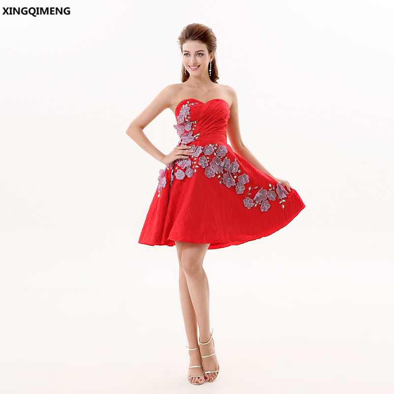 Red Sexy Cocktail Dress Short Elegant Cocktail Dresses Sequined