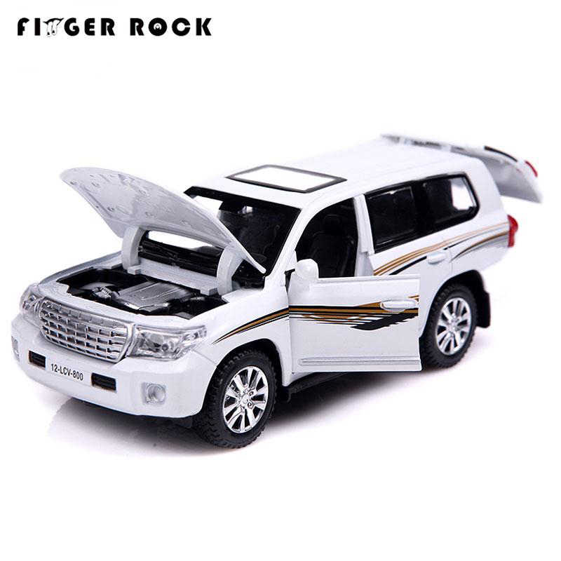 1/32 масштабная Land крейсерская модель, игрушечные машинки с оттягивающейся спинкой, имитация легковых автомобилей, литые под давлением, автомобильные игрушки, мигающая музыкальная коллекция, подарки