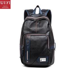 7187e6eb39 Uiyi мода pu кожа мужчины качество рюкзак опрятный стиль человек женщины  bolsas mochila школа дорожная сумка