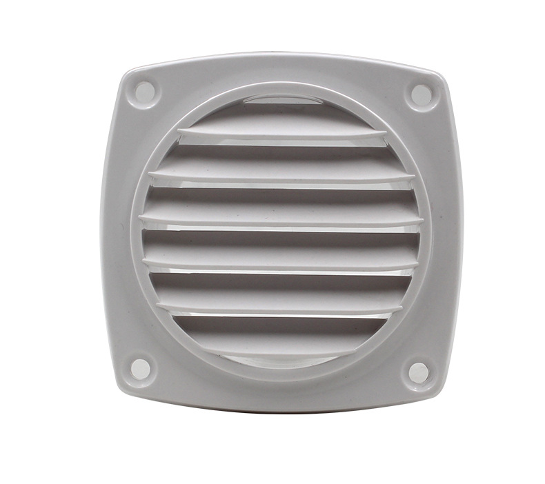 Mini Round Air Vent Grille With Fly Screen Metal Shutter Ducting Ventilation Cover For RV Cabin Indoor Exhaust Ventilation