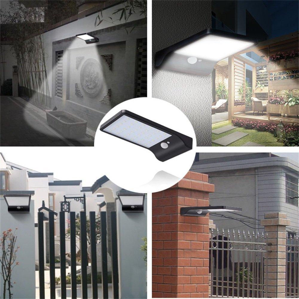 Waterproof LED Solar Light PIR Motion Sensor Outdoor Solar Garden Light Energy Saving Street Security Solar Lamp Yard Wall Light