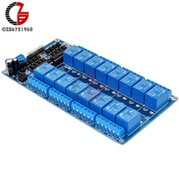16 Channel 12V Relay Shield Module With Optocoupler For Arduino Power Supply LM2576