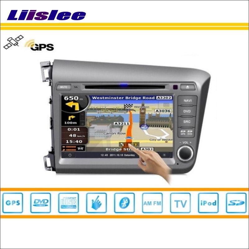 Liislee Car Android Multimedia For Honda Civic 2012~2013 Radio CD DVD Player GPS Navi Map Navigation Audio Video Stereo System