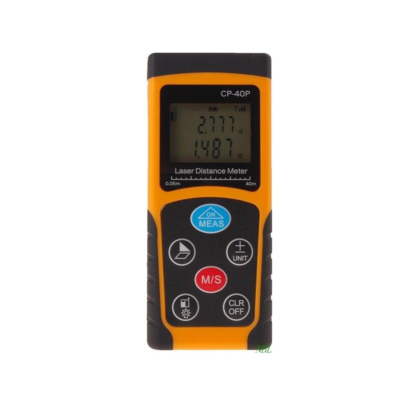 Precision 40M Digital IR Laser Distance Meter LCD Range Finder Diastimeter Mini Addition Subtraction Rangefinder Measurer Tools
