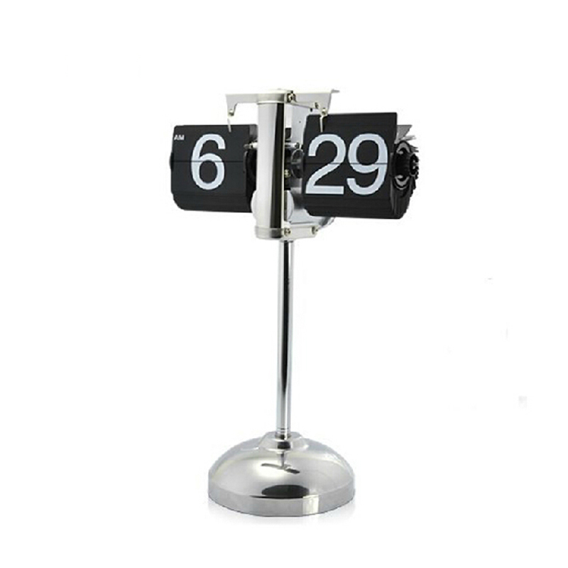 1 шт. Новинка 14-25 дюймов регулируемые по высоте черный флип часы для Книги по искусству украшения дома Напольные часы - Цвет: Черный