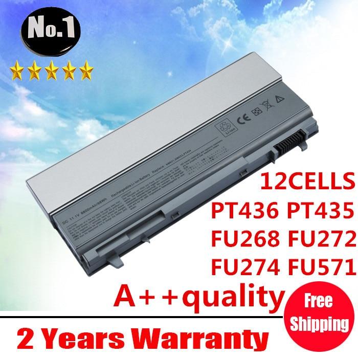 Wholesale New 12cells laptop battery FOR DELL Latitude E6400E6500 E8400 E6410 E6510 FU274 FU571 MN632 MP303 PT434  free shipping wholesale new 6 cells laptop battery for dell latitude d620 d630 d630c d631 series 0gd775 0gd787 0jd605 0jd606 free shipping
