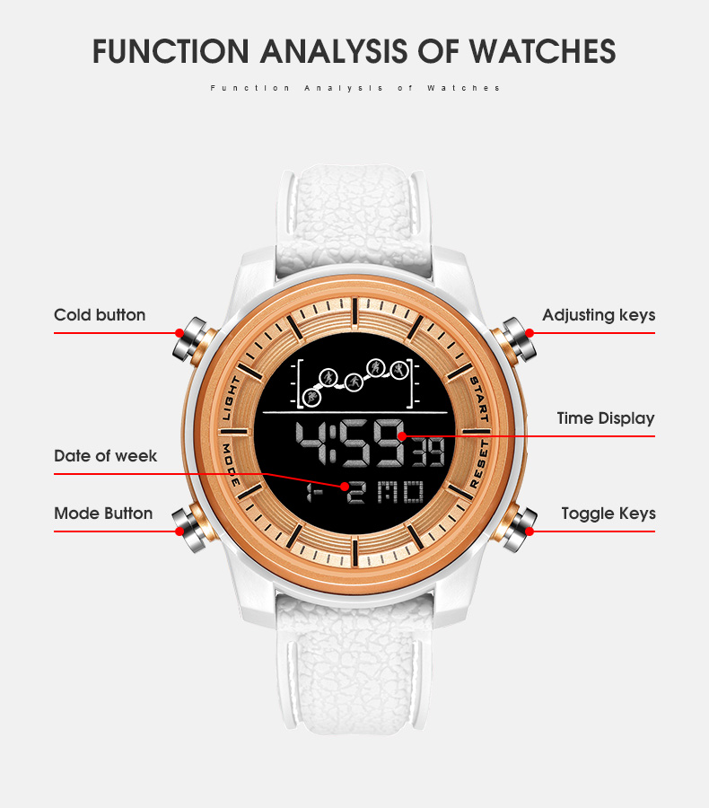 SMAEL Quartz Men's Watches lovers Oversize LED Digital Fashion watch S waterproof luxurious 1556 stainless steel for male watch 3
