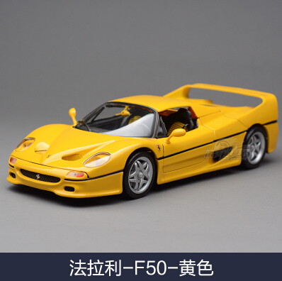 ФОТО F50/358ts/F458 1:18 Bburago car model alloy supercar Classic sports car kids toy collection Exquisite gift Italy Red boy