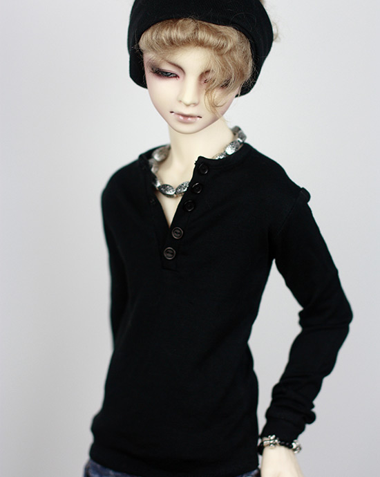 1/4 1/3 SD17 uncle BJD SD Doll accessories Bjd clothes black sleeve T-shirt 1 8 1 6 1 4 1 3 uncle bjd sd dd doll accessories wigs gold long straight hair