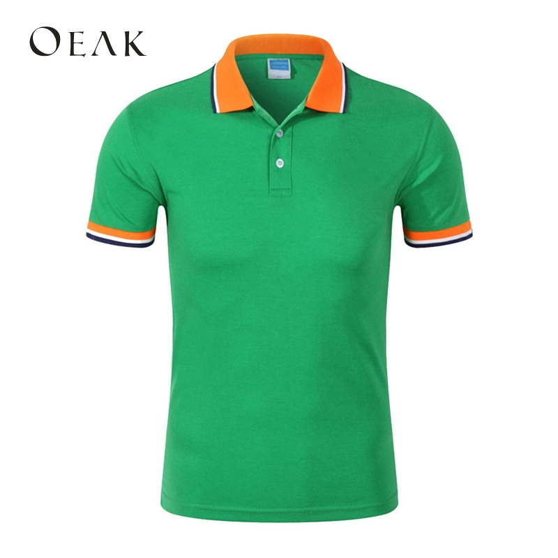 Oeak Contran Color   Polo   Shirts Turn-down Collar Short Sleeve Summer Tee Men Casual Patchwork Basic Tee for Male Camisetas Hombre