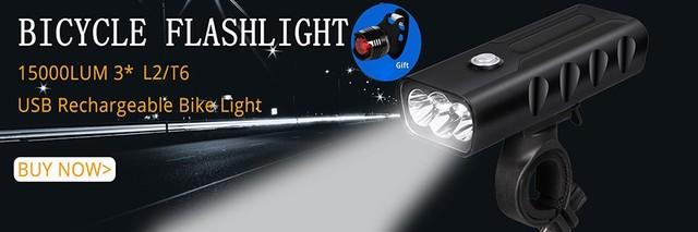Rower światło 8000 lumenów 5 tryby L2 T6 LED rowerowe przednie światło Lampa rowerowa latarka wodoodporna ZOOM latarka przez 18650 tanie i dobre opinie Baterii Certyfikacja CE RoHS CCC Kierownicy Z TRLIFE Stop aluminium 1 x 18650 w 3 x AAA 200-500M T6 L2 4000 lumenów
