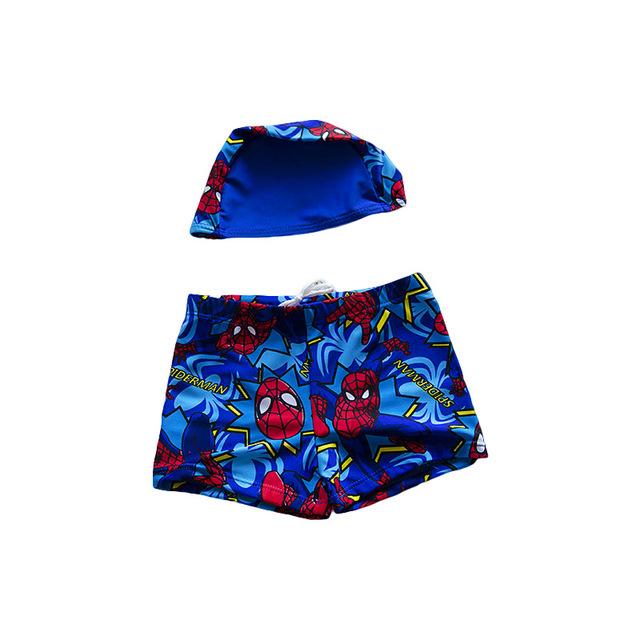 2-12 Anos de idade Menino Nadar Terno Com Chapéu de Praia Chapéu de Verão Dos Desenhos Animados Da Criança Crianças Swimwear Guardas Rush Calções Tronco S2082