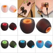 2 шт/1 пара разноцветных резиновых наушников 3,8 мм, сменные насадки для наушников, силиконовые резиновые вкладыши, универсальные Сменные наушники