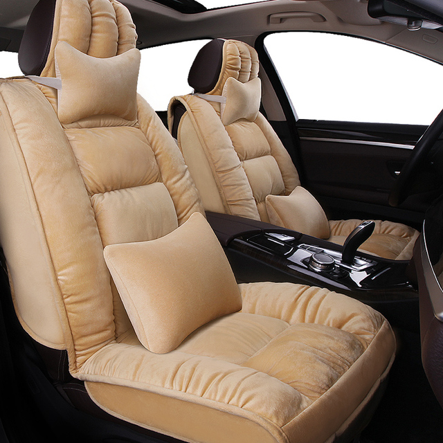 Shape Thick Soft And Warm Car Seat Cover Short Plush Cushion Free Shipping