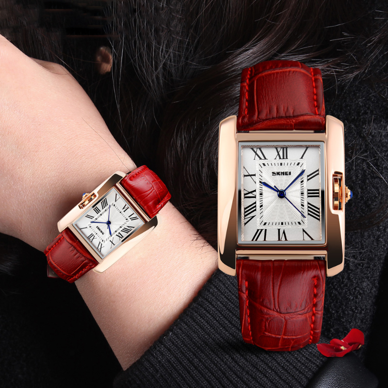 Luxury Women Quartz Watches fashion red WristWatch Fashion Unique Bracelet Watch Ladies Dress Relogio Feminino Clock 2018 watch onlyou men s watch women unique fashion leisure quartz watches band brown watch male clock ladies dress wristwatch black men
