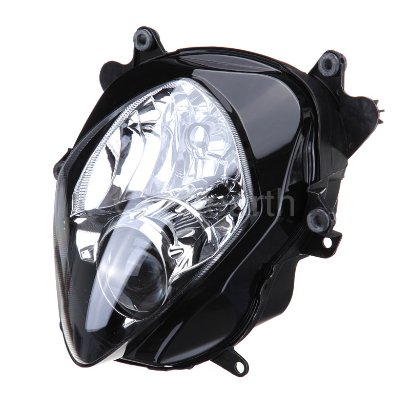 Crystearth Motorcycle Headlight Front Head Light Headlamp Assembly For Suzuki GSXR1000 GSX-R1000 GSXR 1000 2007 2008 K7 K8 DC 12 motorcycle fairings for suzuki gsxr gsx r 1000 gsxr1000 gsx r1000 2007 2008 07 08 k7 abs plastic injection fairing kitg green