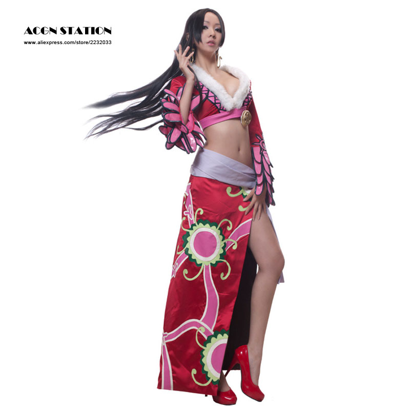 2018 ACGN STATION Free Shipping <font><b>Sexy</b></font> One Piece Adult <font><b>Women</b></font> Cosplay <font><b>Costume</b></font> One Piece Boa Hancock Cosplay <font><b>Costume</b></font> <font><b>for</b></font> <font><b>Halloween</b></font> image