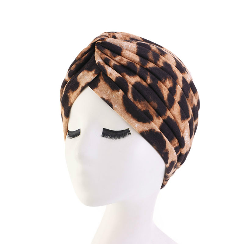 2019 Muslim Cotton Folding Stretch Turban Ruffle Hair Hats Beanie Bandanas Scarf Head Wrap Headwear For Women 20