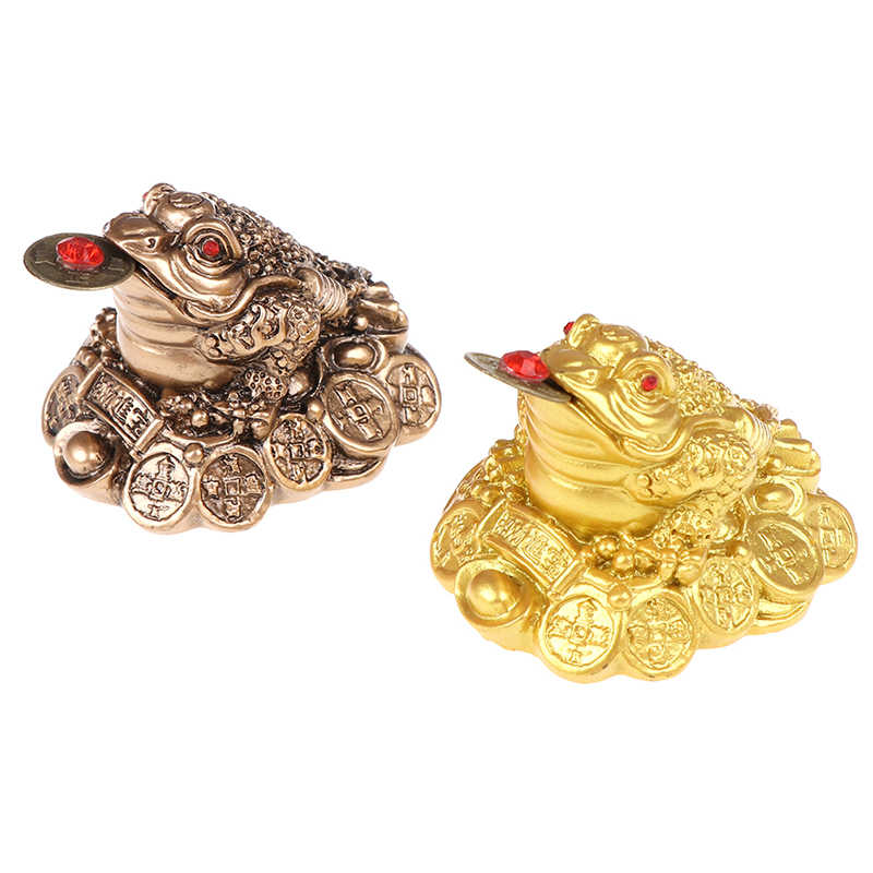 1 Uds., rana de La Fortuna china, Feng Shui, sapo de la suerte de tres patas, dinero para el hogar, oficina, tienda, negocio, decoración artesanal, regalo