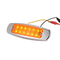 4pcs 12 LEDs Heavy Truck Side Lamp Clearance Lights Stop Rear Tail Side Marker Indicator Lamp