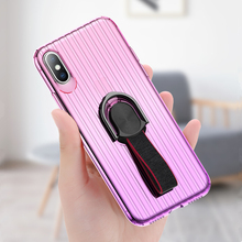 Luxury Ring Holder Phone Case For iPhone X Magnetic Car Stand Soft Silicone Matte Cover 8 7 Plus Capa