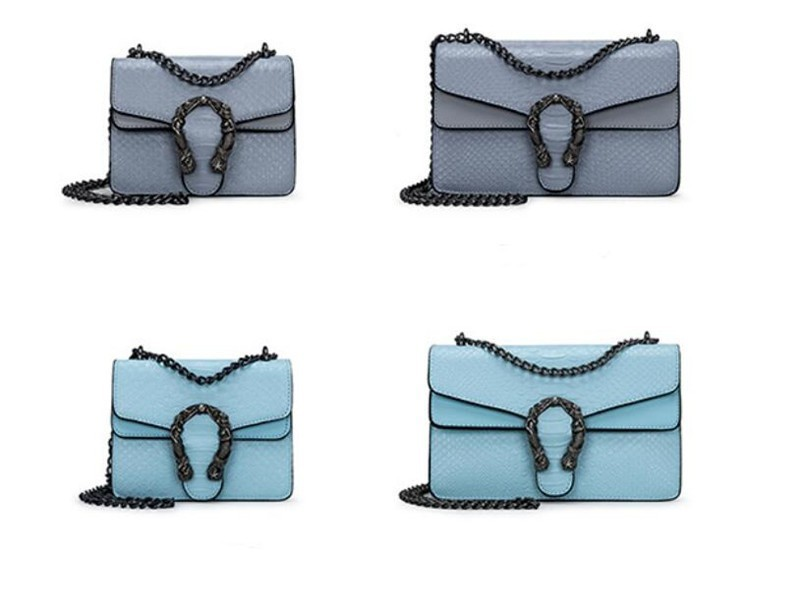 Luxury Handbags Women Bags Designer 2018 Alligator PU Leather Version Of Black Blue Gray Clutches Chains Ladies Crossbody Bags 15