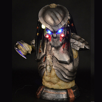 1;1 PREDALIEN Predator Alien Life Size Figure Bust Statue Collectible LED EYES Resin Best Quality 42cm height