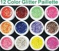 Professional 12 Color BIG GLITTER KIT UV GEL Builder NAIL ART Set Tips Kit Polish Acrylic
