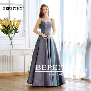 Image 3 - Abiti Da Cerimonia Da Sera A line Evening Dress Long 2020 Vestido De Festa Cheap Prom Dress Gown Elegant Glitter Fabric New